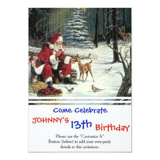 Santa claus painting - christmas art card