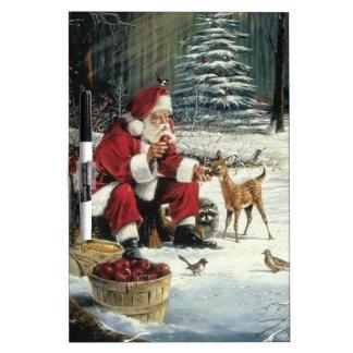 Santa claus painting - christmas art dry erase board