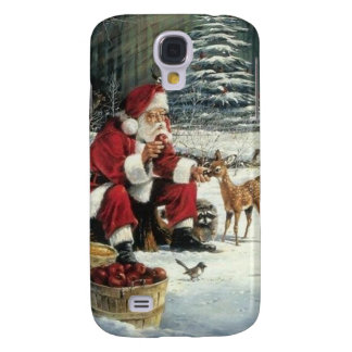 Santa claus painting - christmas art galaxy s4 covers
