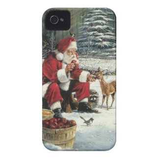 Santa claus painting - christmas art iPhone 4 cover