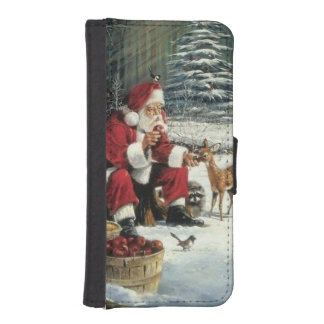 Santa claus painting - christmas art iPhone SE/5/5s wallet case