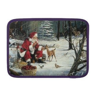 Santa claus painting - christmas art MacBook sleeve