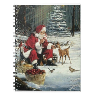 Santa claus painting - christmas art notebook