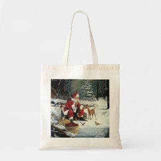 Santa claus painting - christmas art tote bag