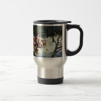 Santa claus painting - christmas art travel mug