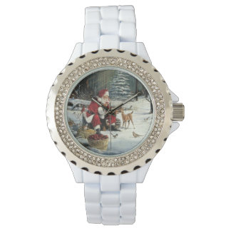Santa claus painting - christmas art watch