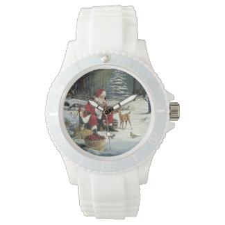 Santa claus painting - christmas art watch