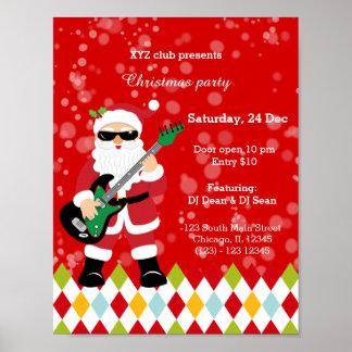 Santa Claus party * choose background color Poster
