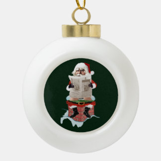 "Santa Claus ""Party Pooper"" Christmas Ornaments"