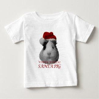Santa Claus Pig Guinea Pig Christmas Holidays Baby T-Shirt