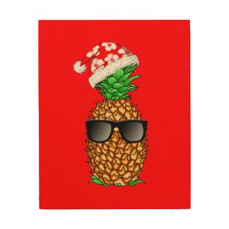 Santa Claus Pineapple Wood Wall Art