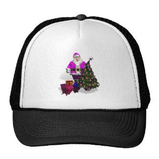 Santa Claus Pink Ribbons Cap