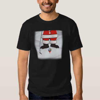Santa Claus Playing Golf in the Snow Tshirts