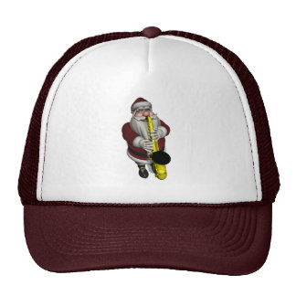 Santa Claus Playing Saxophone Trucker Hat