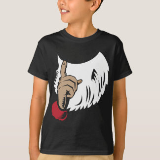 Santa Claus Pointing A Finger T-Shirt