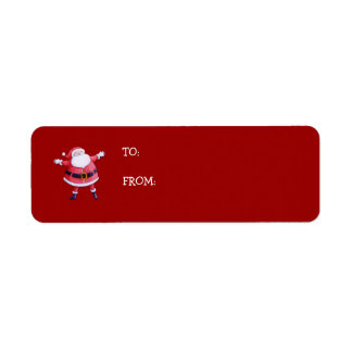 Santa Claus red Gift Tag Label Return Address Label
