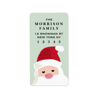 Santa Claus Return Address Label
