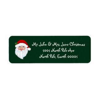 Santa Claus Return Address Labels