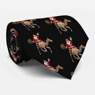 Santa Claus Riding A Camel Tie