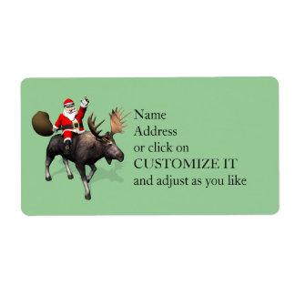 Santa Claus Riding On Moose