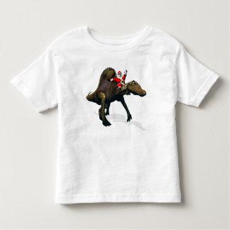 Santa Claus Riding On Spinosaurus Toddler T-Shirt