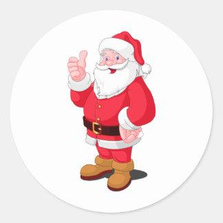 Santa Claus Round Sticker