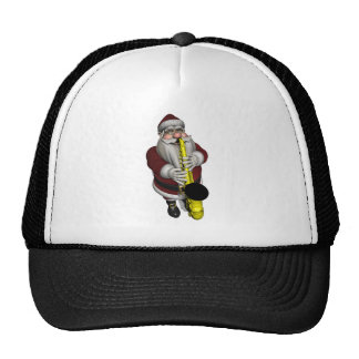 Santa Claus Saxophone Player Trucker Hat