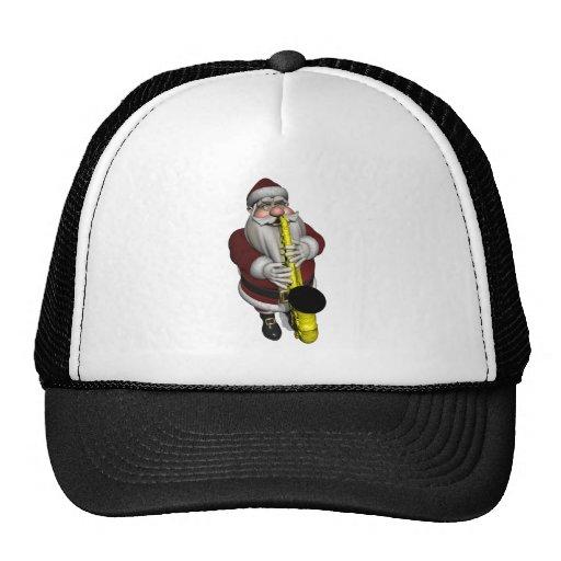 Santa Claus Saxophone Player Trucker Hat