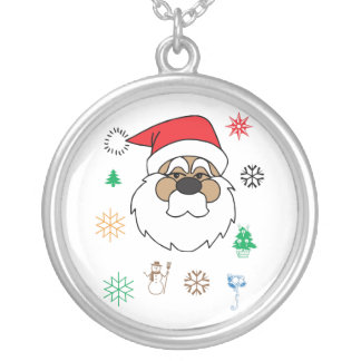 Santa Claus Silver Plated Necklace