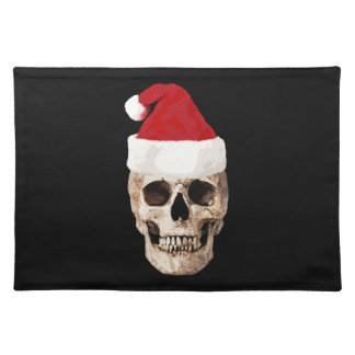 Santa Claus Skull - Christmas is Dead Placemat