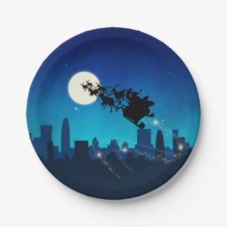 Santa Claus Sleigh Christmas - Paper Plate