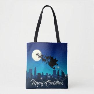 Santa Claus Sleigh Riding - Tote Bag