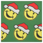 Santa Claus Smiley + your backgr. & ideas Fabric
