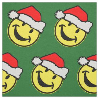Santa Claus Smiley + your backgr. & ideas Fabric