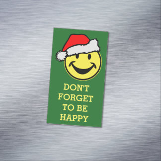 Santa Claus Smiley + your backgr. & ideas Magnetic Business Card