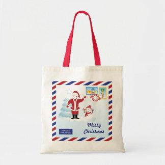 Santa Claus snail mail Canvas Bags