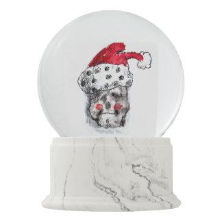 Santa Claus snow globe - Skull Santa