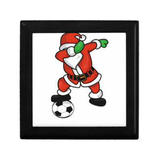 Santa Claus soccer dab dance ugly christmas T-shir Gift Box