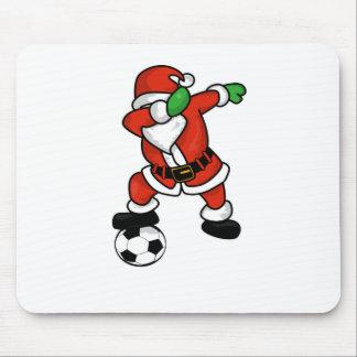 Santa Claus soccer dab dance ugly christmas T-shir Mouse Pad