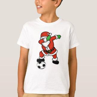 Santa Claus soccer dab dance ugly christmas T-shir T-Shirt