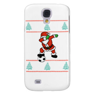 Santa Claus soccer dab ugly Christmas 2018 T-Shirt Galaxy S4 Cases