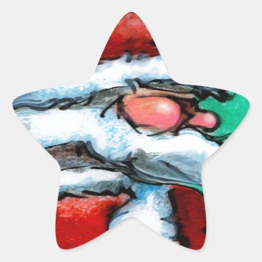 Santa Claus Star Sticker