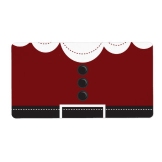 Santa Claus Suit Christmas Holiday Design Shipping Label
