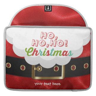 Santa Claus Suit Ho Ho Ho Christmas Happy New Year Sleeve For MacBooks
