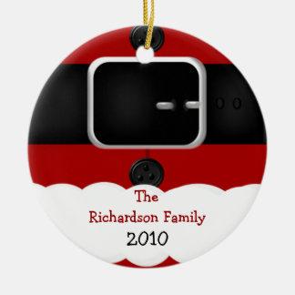 Santa Claus Suit Personalized Christmas Ornament