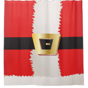 Santa Claus Suit Shower Curtain
