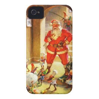Santa Claus Supervises His Elves Baking Cookies Case-Mate iPhone 4 Case