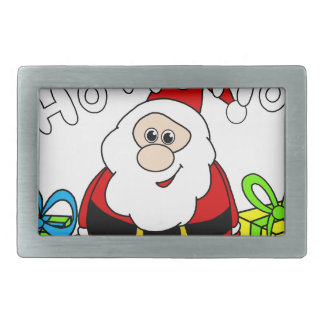 Santa Claus - transparent Rectangular Belt Buckles