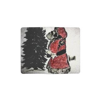 santa claus & tree pocket moleskine notebook