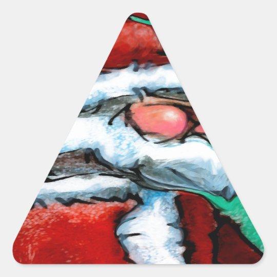 Santa Claus Triangle Sticker